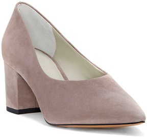 1 STATE Jact Suede Pointed-Toe Block Heel Pumps