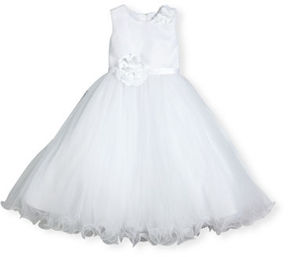 Joan Calabrese Sleeveless Satin & Tulle Special Occasion Dress, Size 2-14