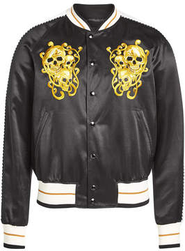 Alexander McQueen Cotton-Silk Bomber Jacket