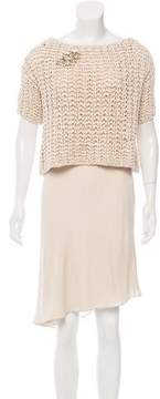 Brunello Cucinelli Embellished Knee-Length Dress