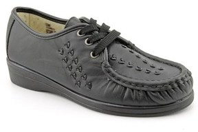 Softspots Bonnie Lite Women N/s Moc Toe Leather Black Oxford.