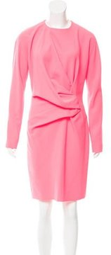 Cédric Charlier Long Sleeve Draped Dress w/ Tags