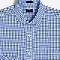J.Crew Factory Mini-gingham flex wrinkle-free dress shirt