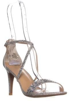 Thalia Sodi Ts35 Darria Cross Strap Evening Sandals, Pewter.