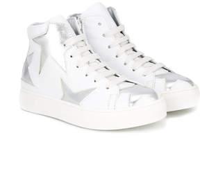 Simonetta star motif hi-top sneakers