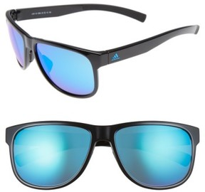 Women's Adidas Sprung 60Mm Sunglasses - Shiny Blue/ Blue Mirror