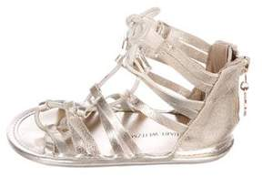 Stuart Weitzman Girls' Metallic Gladiator Sandals