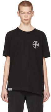 Off-White Black and White Cross Spliced T-Shirt