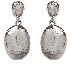 Amrita Singh Silvertone Oval Lisa Drop Earrings