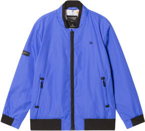 Mayoral Blue Bomber Jacket with Printed Lining