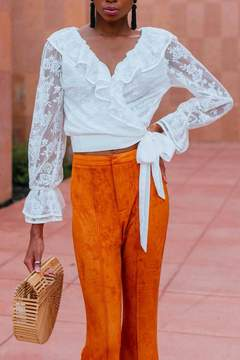 Flying Tomato Ruffle Lace Top