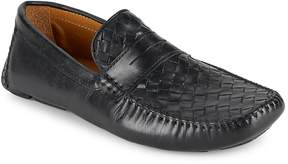 Saks Fifth Avenue Men's Woven Penny Slot Loafers