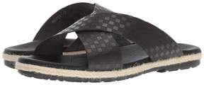Matteo Massimo Checkered Slide Men's Sandals