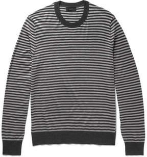 Joseph Striped Merino Wool Sweater