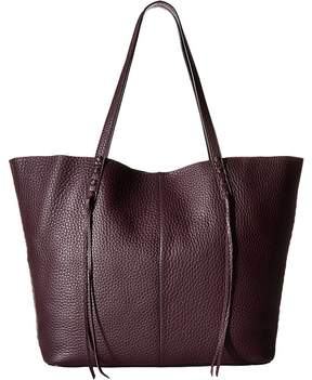Rebecca Minkoff Medium Unlined Tote with Whipstitch Tote Handbags - ALMOND - STYLE