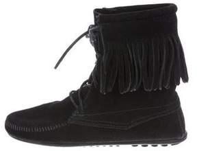 Minnetonka Fringe Mid-Calf Boots