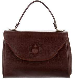 Mark Cross Grained Leather Satchel