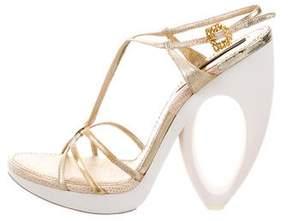 Louis Vuitton Lizard Platform Sandals
