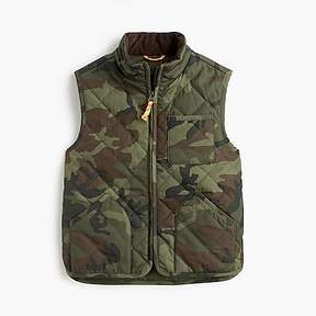 J.Crew Boys' Sussex quilted vest in camo
