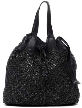 Liebeskind Berlin Tulasa Woven Snake Embossed Drawstring Shoulder Bag
