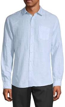 Saks Fifth Avenue BLACK Men's Linen Tencel Shirt