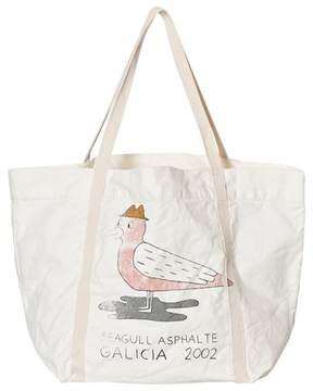 Bobo Choses Cream Seagull Asphalt Print Tote Bag
