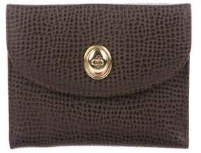 Christian Dior Embossed Leather Compact Wallet