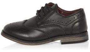 River Island Mini boys black brogue shoes