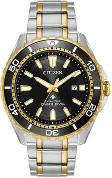 Citizen Eco-Drive Men's Promaster Diver Stainless Steel Bracelet Watch 44mm, A Macy's Exclusive Style