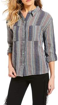 Chelsea & Violet C&V Striped Button Down Shirt