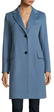 Fleurette Notch Lapel Wool Coat