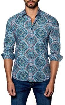 Jared Lang Print Trim Fit Shirt