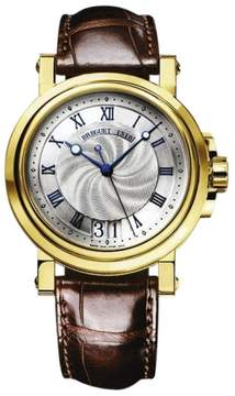 Breguet 5817ba/12/9v8 Marine Automatic Big Date 18K Yellow Gold B&P Watch