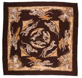 Hermes Guepards Silk Scarf