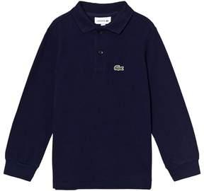 Lacoste Navy Classic Long Sleeve Pique Polo