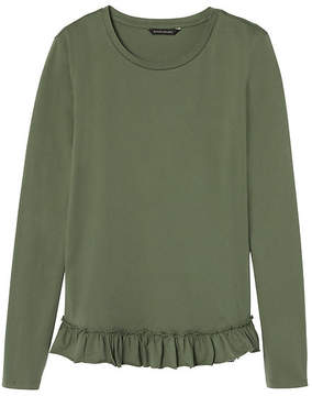 Banana Republic Ruffle Hem Couture Tee