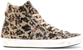 Philippe Model sequined high top sneakers