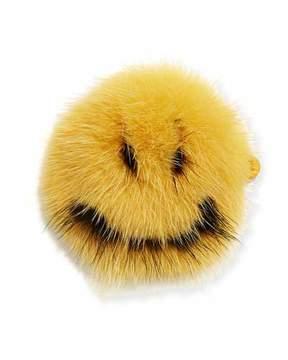 Anya Hindmarch Smiley Mink Sticker for Handbag, Mustard
