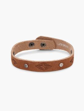 Lucky Brand Leather Studded Bracelet