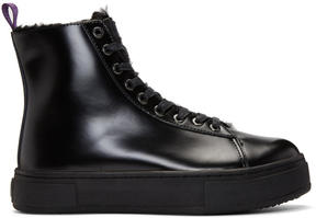 Eytys Black Kibo Montana Lace-Up Boots