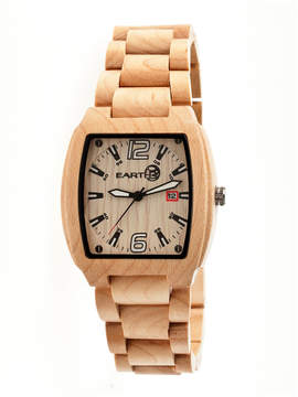 Earth Wood Sagano Khaki Bracelet Watch with Date ETHEW2401