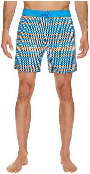 Mr.Swim Mr. Swim Flat Plaid Printed Chuck Boardshorts Men's Swimwear