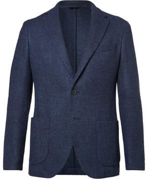 Altea Blue Bouclé Wool, Silk And Cashmere-Blend Blazer