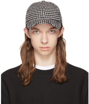 Ami Alexandre Mattiussi Black and White Houndstooth Baseball Cap