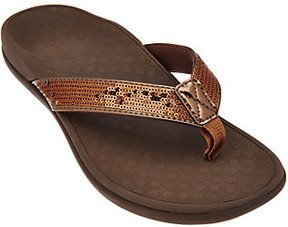 Vionic As Is Orthotic Thong Sandals - Tide Sequins