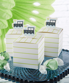 Precious Cargo Train Favor Box - Set of 24