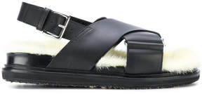 Marni Fussbett fur footbed sandals
