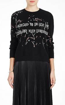 Valentino Women's Bead-Embellished Virgin Wool-Cashmere Sweater
