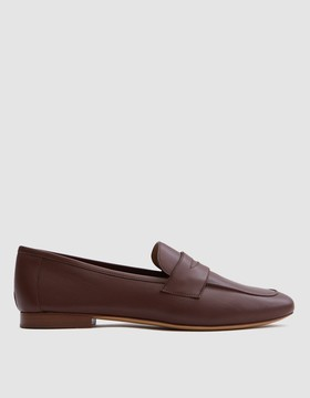 Mansur Gavriel Classic Loafer in Chocolate