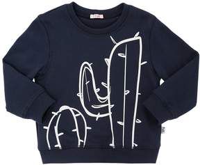 Il Gufo Cactus Printed Cotton Sweatshirt